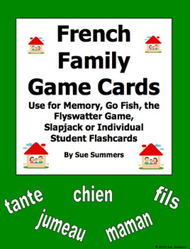 Spanish Family Cards for Flashcards, Memory, Go Fish, Flys