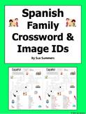 Spanish Family Crossword and Picture IDs - La Familia