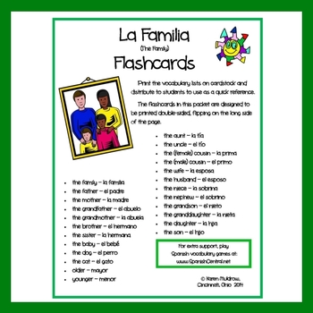 Spanish - Family Flashcards