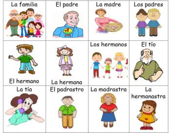 Spanish Family Flashcards