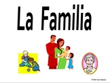 Spanish Family Flashcards, PowerPoint and Bulletin Board