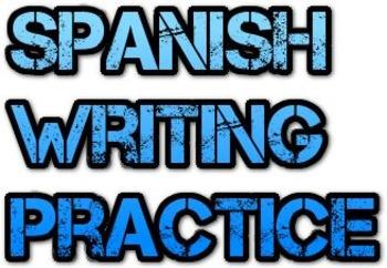 Spanish Family House Food Writing Practice