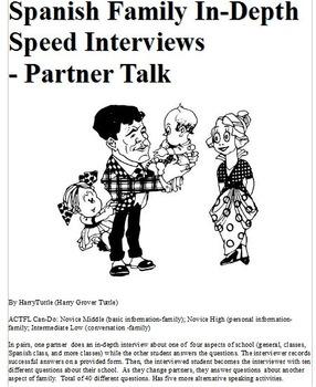 Spanish Family In-Depth Speed Interviews - Partner Talk