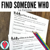 Spanish Speaking Activity - Spanish Family Members - Find
