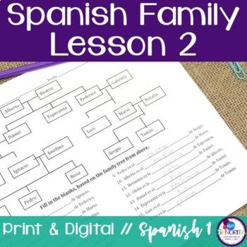 Spanish Family Lesson 2