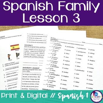 Spanish Family Lesson 3