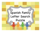 Spanish Family Member Letter Search Puzzles