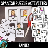 Spanish Family Members Puzzle Activity