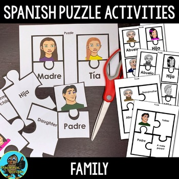 Spanish Family Members Puzzle Activity