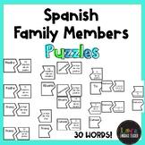 Spanish Family Members Puzzles