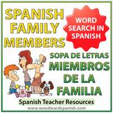 Spanish Family Members Word Search - La Familia