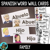 Spanish Family Members Word Wall Cards
