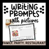 Spanish Family, Parties, Restaurant Picture Writing Prompts | La Familia