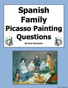 Spanish Family - Picasso's Soler Family 8 Questions and 7 Image IDs
