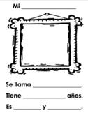Spanish Family Portrait and Description Worksheet / Mi familia