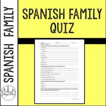 Spanish Family Practice or Quiz
