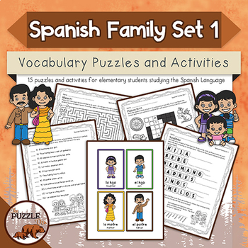 Spanish Family Puzzles and Activities Set 1