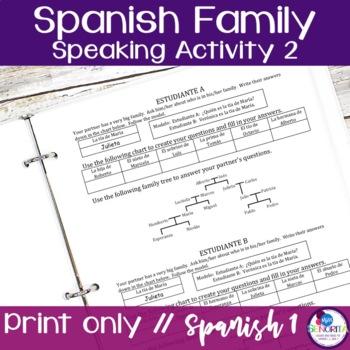 Spanish Family Speaking Activity 2