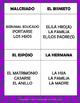 "Spanish Family ""No lo digas"" Game & Vocab List for La Familia"