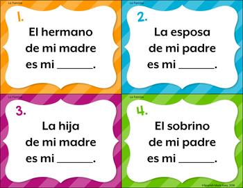 Spanish Family Task Cards
