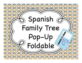 Spanish Family Tree Pop-Up Fold-It