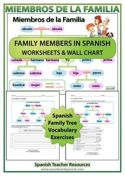 spanish family tree worksheets by woodward education tpt. Black Bedroom Furniture Sets. Home Design Ideas