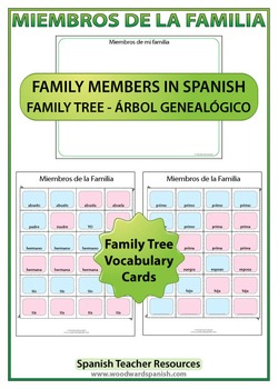 Spanish Family Tree Worksheets