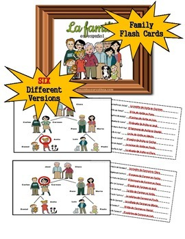 Spanish Family Trees Flash Cards