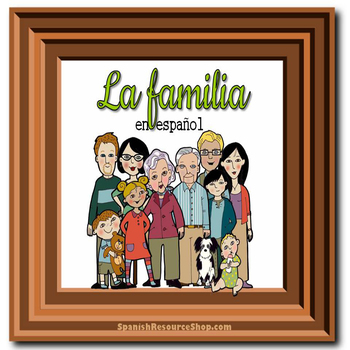 Spanish Family Trees Practice Powerpoint BUNDLE