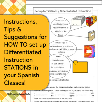 Spanish Family Unit La Familia Stations Differentiated Instruction