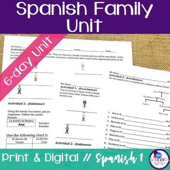 Spanish Family Unit Bundle