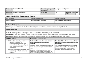 Myp Spanish Worksheets & Teaching Resources   Teachers Pay