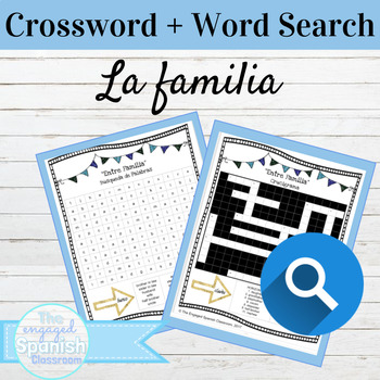 Spanish Family Vocab Word Search and Crossword With Answer Keys