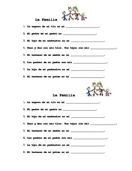 spanish family vocabulary practice by keela vaughn tpt. Black Bedroom Furniture Sets. Home Design Ideas
