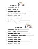 Spanish Family Vocabulary Practice