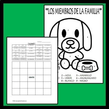 Spanish Family Vocabulary Unit (La familia) - 18 page packet