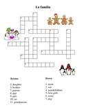 Spanish Family Winter Crossword