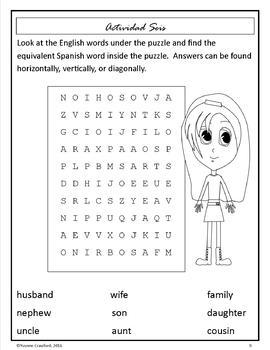 Spanish Family Words -   La familia en Español