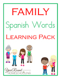 Spanish Family Words Learning Pack