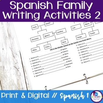 Spanish Family Writing Activity 2