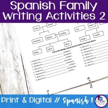 Spanish Family Writing Activity 2