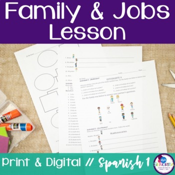 Spanish Family and Jobs Lesson
