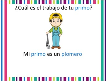 Spanish Family and Jobs Powerpoint