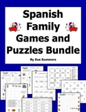 Spanish Family and Pets Bundle of Games and Puzzles - Span