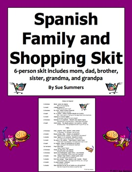 Spanish Family and Shopping Skit / Role Play / Speaking Activity