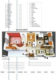 Spanish: Family members, rooms and household vocab test