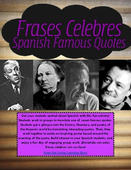 Spanish Famous Quotes -Frases celebres -