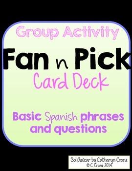 Spanish Fan n Pick - Greetings, Intros, Small Talk