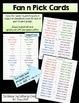 Spanish Fan n Pick Card Deck - Stem Changing Verbs