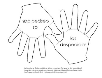 Spanish Farewell Foldable